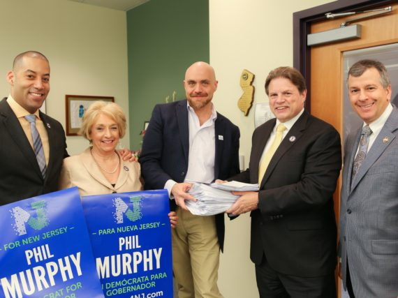 NJEA members deliver more than 6,800 signatures for Ambassador Murphy