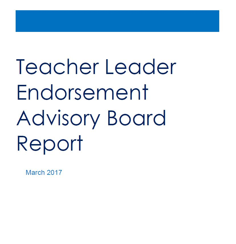 Teacher Leader Endorsements Moves To Njdoe New Jersey Education