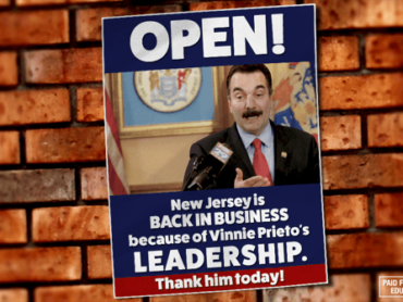 New Jersey is Open for Business: Thank Vinnie Prieto Today!