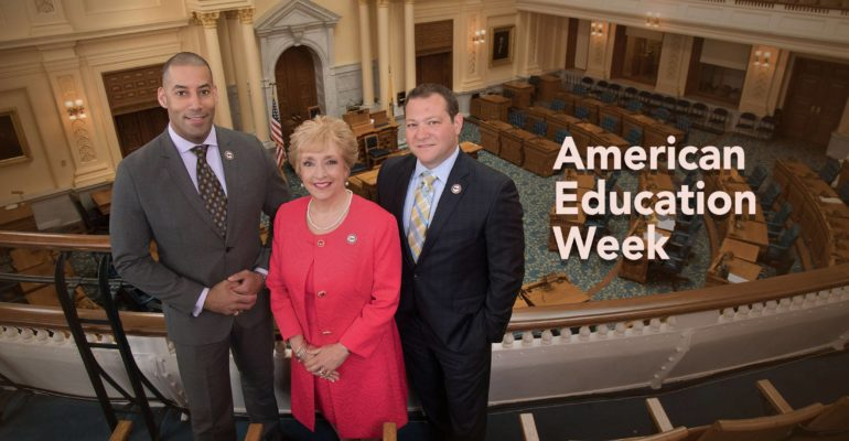 NJEA officers celebrate American Education Week