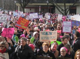 NJEA members join thousands in solidarity during Women's March NJ