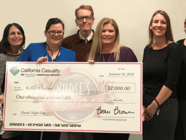 School nurse receives $1,000 thank you from California Casualty