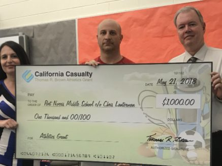 New Jersey schools score athletics grants from  California Casualty