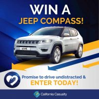 "Pledge to ""keep on course"" and win a car from  California Casualty"
