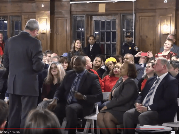 Murphy stands up for Ch. 78 relief at Maplewood town hall
