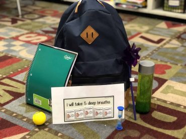 "Quick Tip: Use a ""Cool Down Bookbag"" to de-stress students"