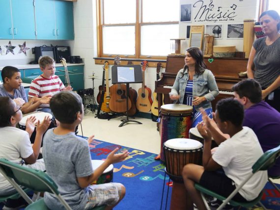 Joy and healing through  music therapy
