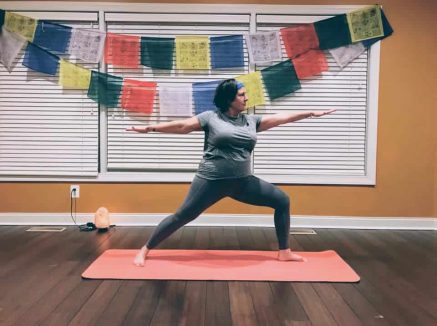Join a daily yoga class with Medford School Nurse Kathy Gigantiello