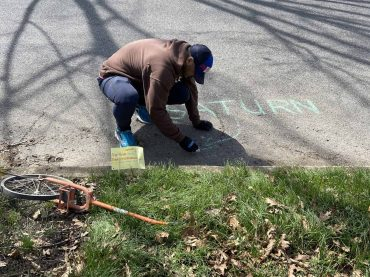 Haddon Heights teacher takes remote learning to the streets