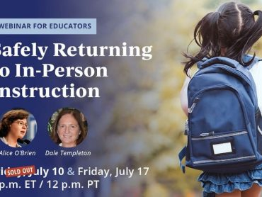 "Attend NEA's ""Safely Returning to In-Person Instruction"" webinar"