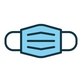 Medical, surgical mask line icon. Protective mask