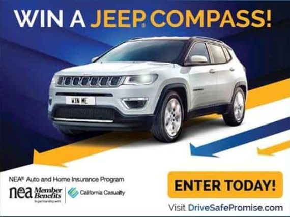 Pledge to drive safe and enter to win a new Jeep Compass!